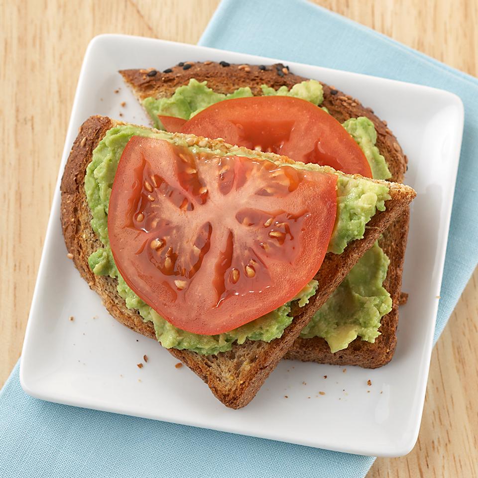 Avocado-Tomato Open-Face Sandwich Diabetic Living Magazine