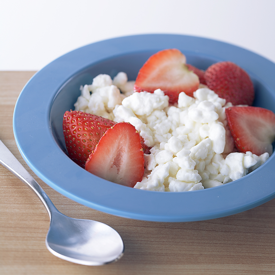 Strawberries and Cottage Cheese Diabetic Living Magazine