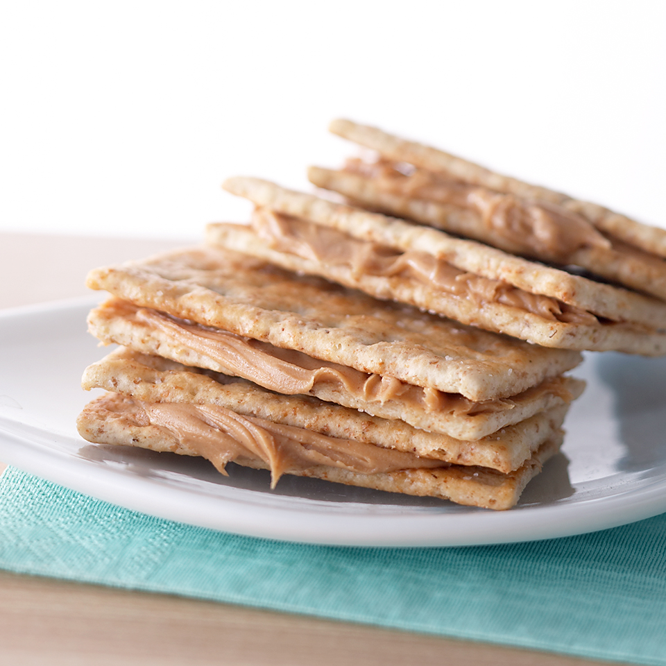 Crackers with Peanut Butter Diabetic Living Magazine