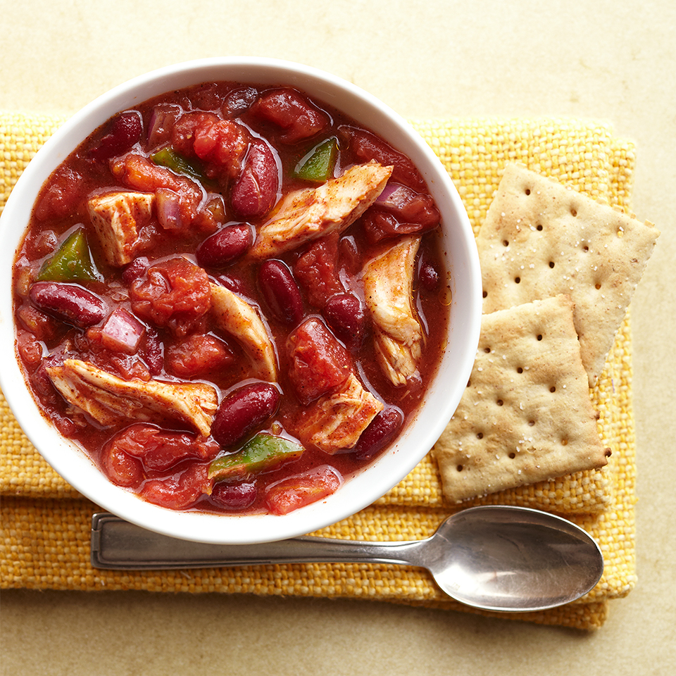This quick-and-easy chili recipe is not only delicious, but it also packs in 25 grams of protein and 11 grams of fiber per serving.