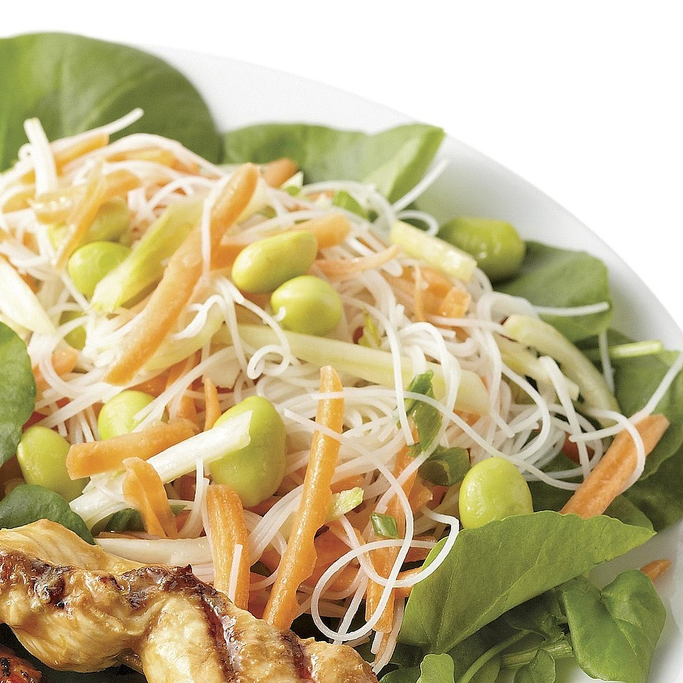 Edamame, Vermicelli and Watercress Salad Diabetic Living Magazine