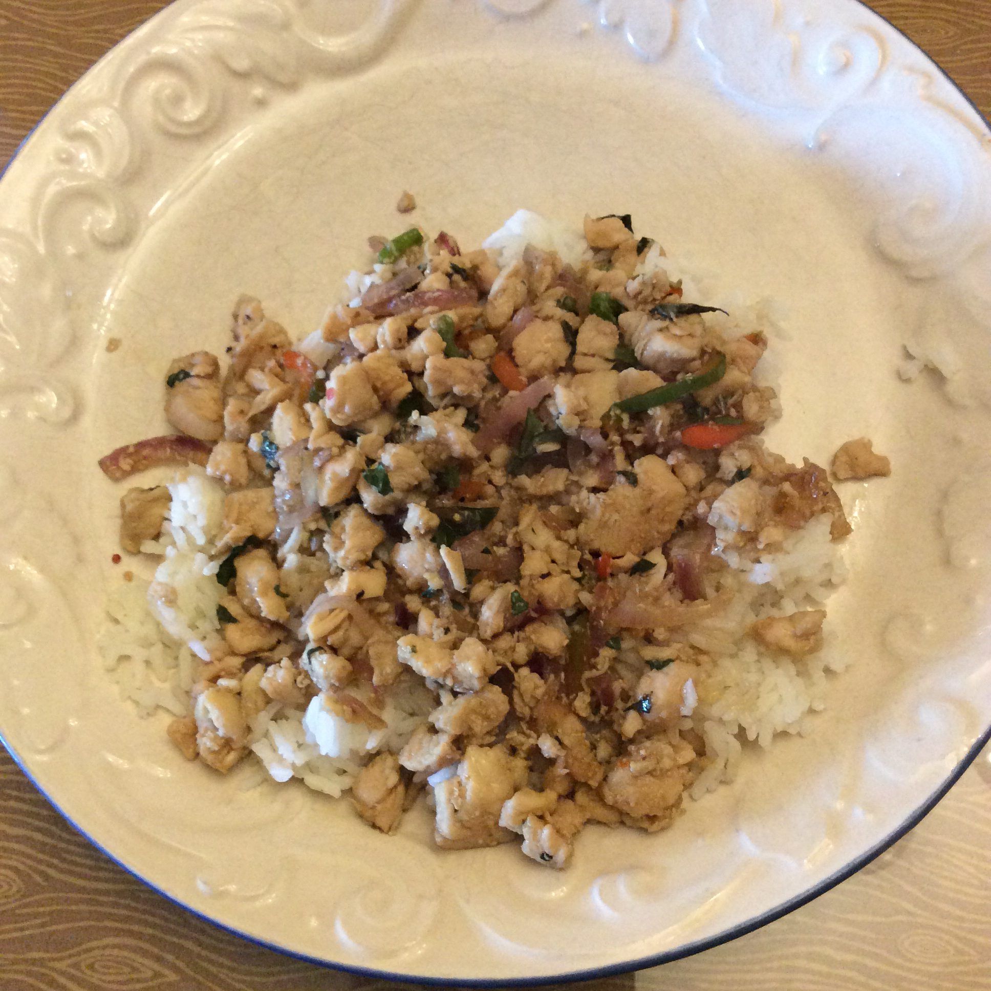Spicy Thai Basil Chicken (Pad Krapow Gai) cquinn74