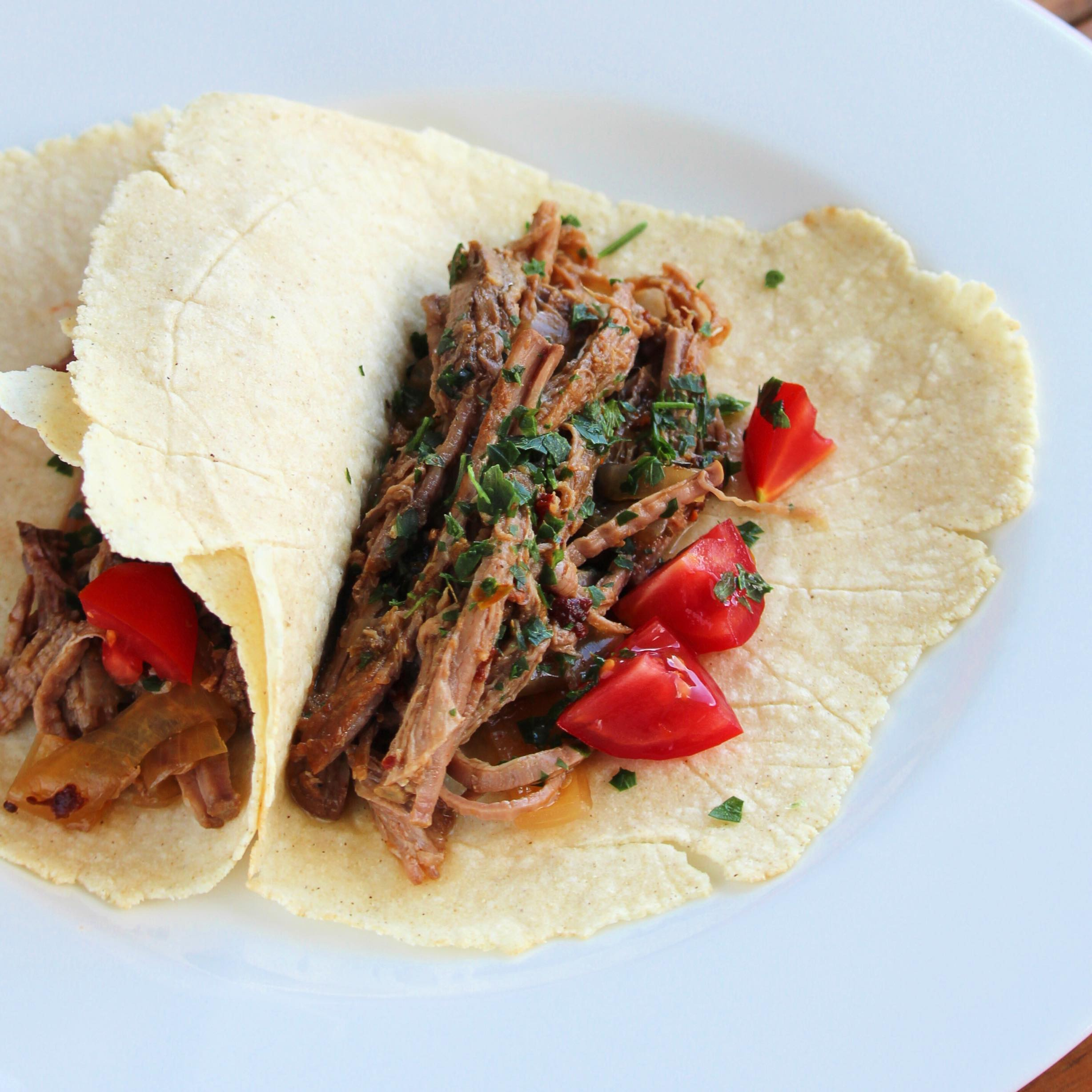 Shredded Beef Tacos with Lime