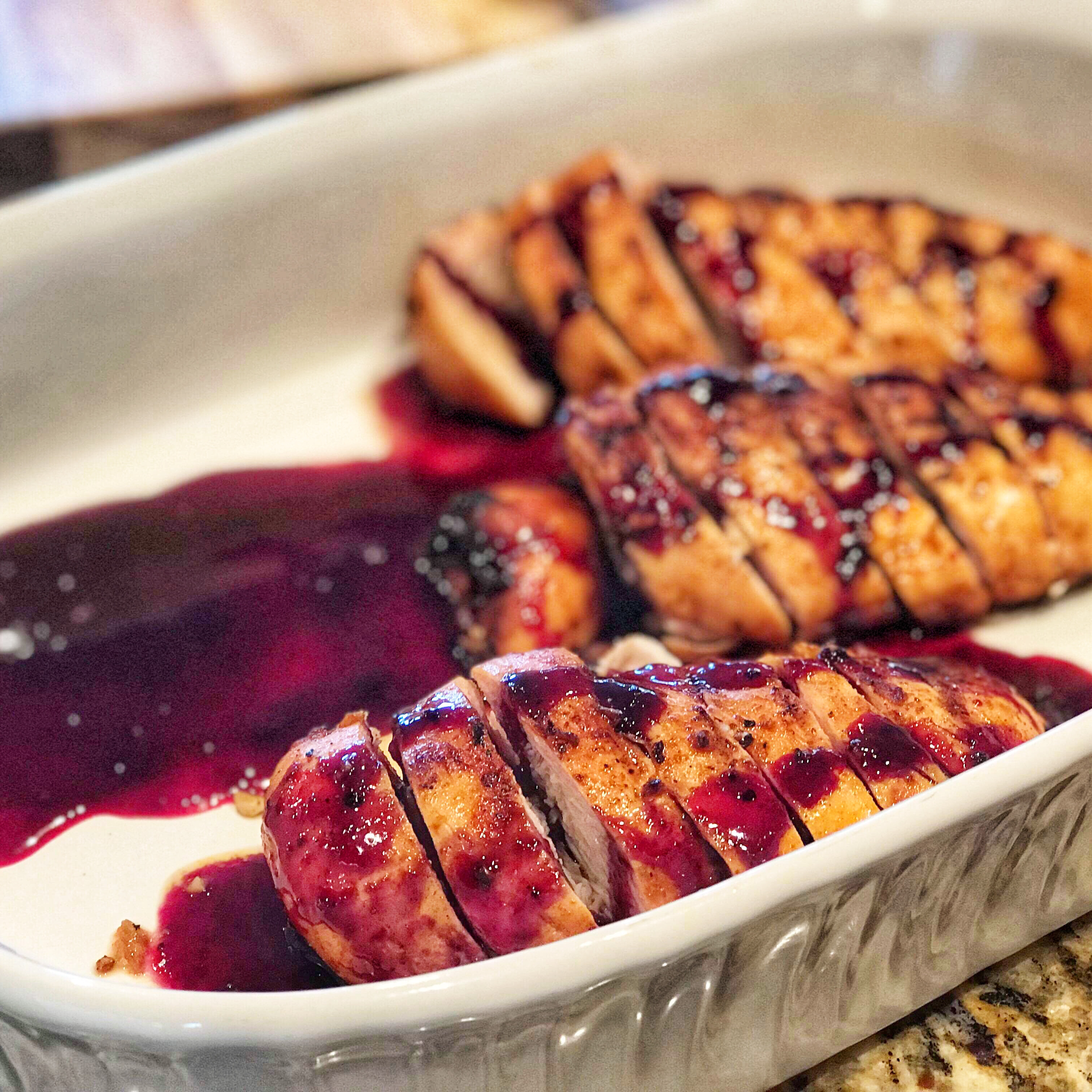 Red, White, and Blueberry Grilled Chicken Kevin O'Neill Stoll