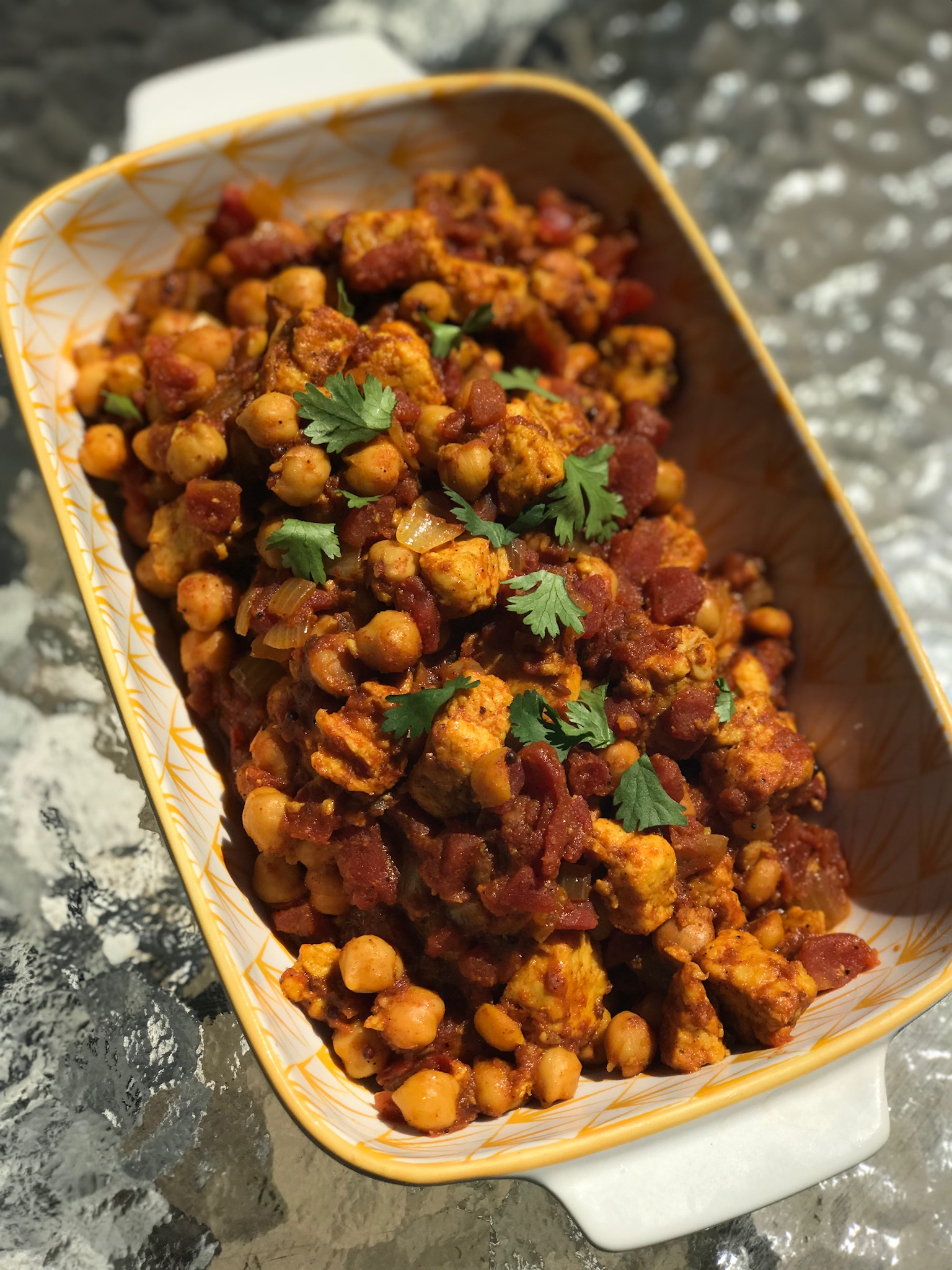 Quorn(TM) and Chickpea Curry