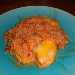 Easy Spicy Chicken and Rice kellieann