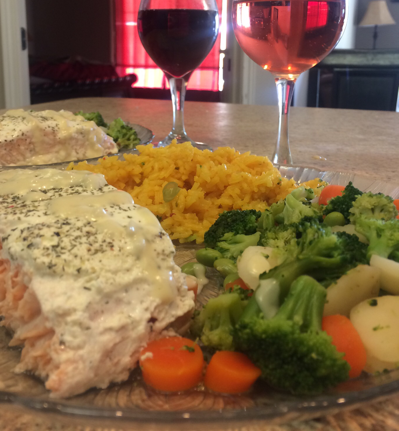 Salmon with Dijon Cream Sauce