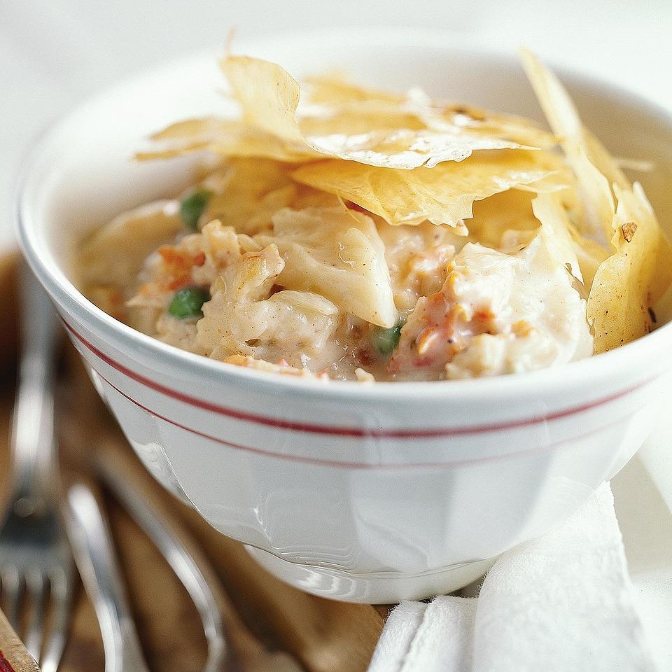 Phyllo-Crusted Crab Pie Diabetic Living Magazine