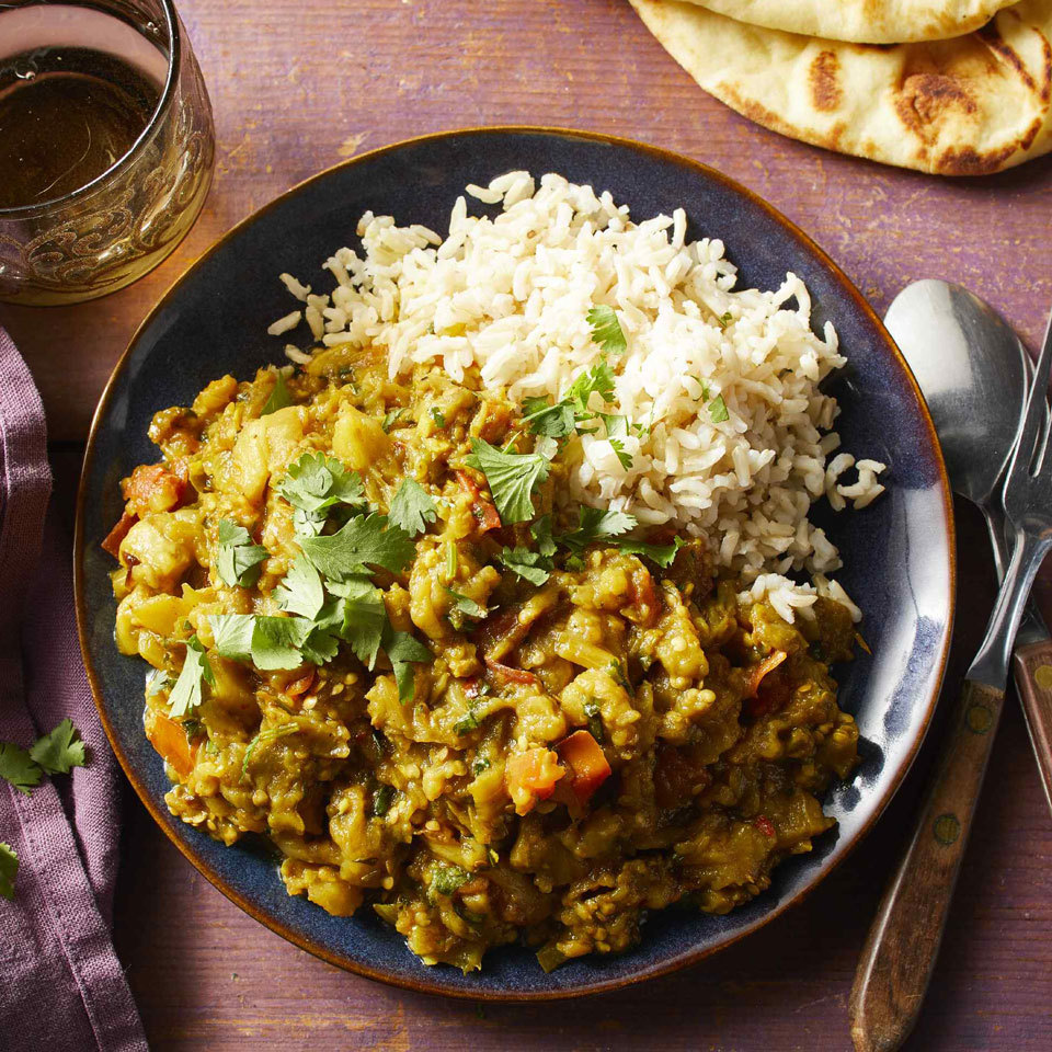 Spicy Roasted Indian Eggplant (Bhartha) Carolyn Casner