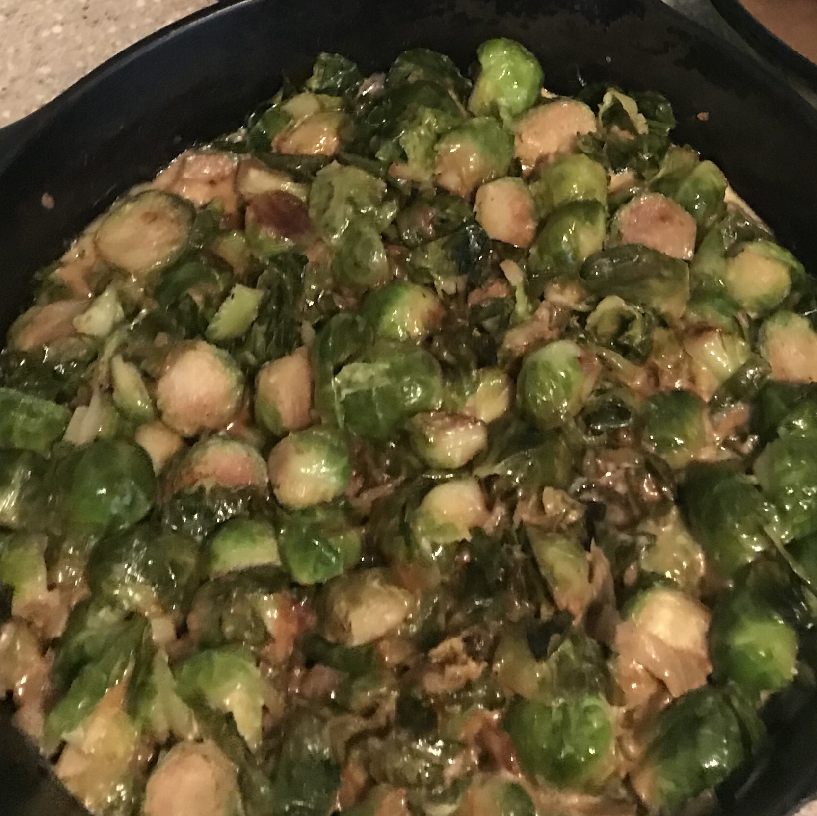 Cream-Braised Brussels Sprouts Micki Jack