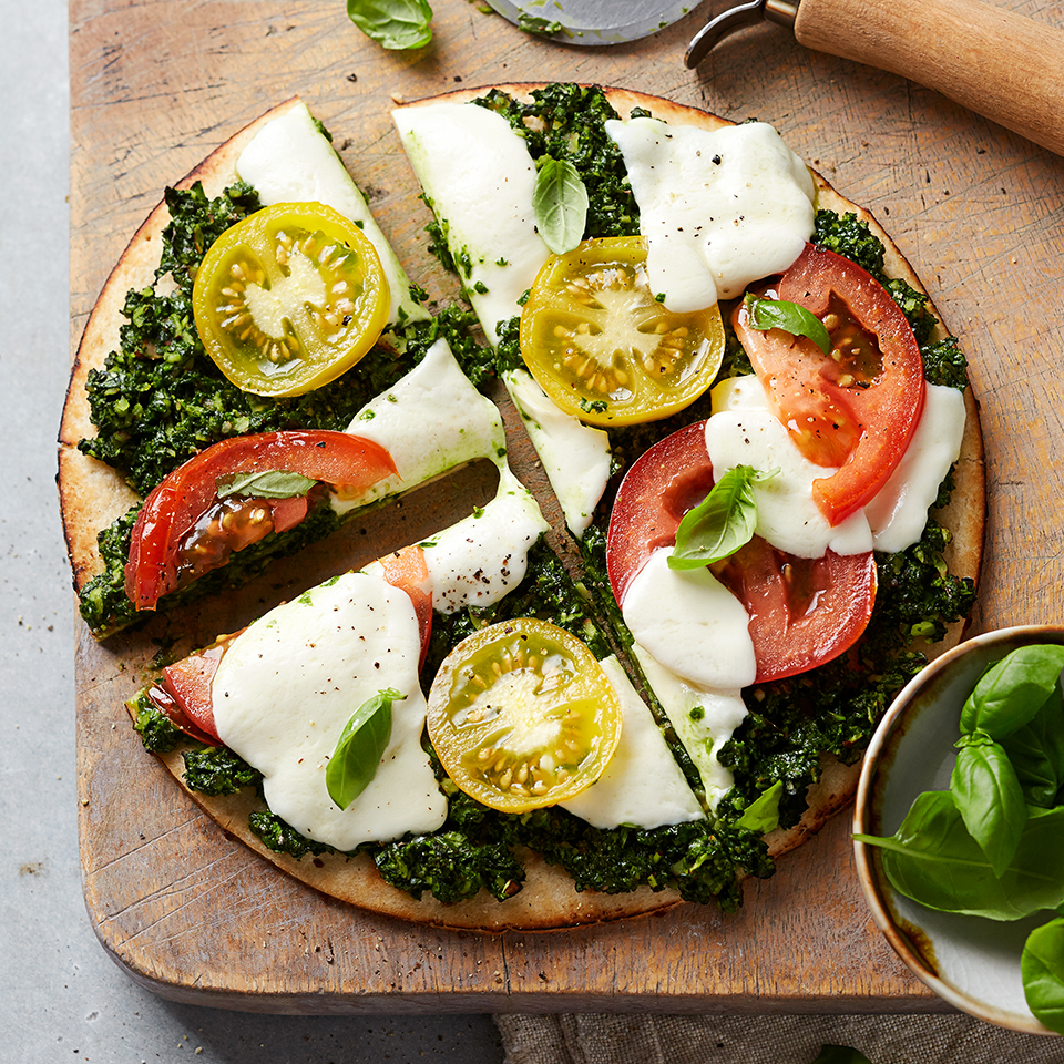 Flatbread with Pesto & Mozzarella Diabetic Living Magazine