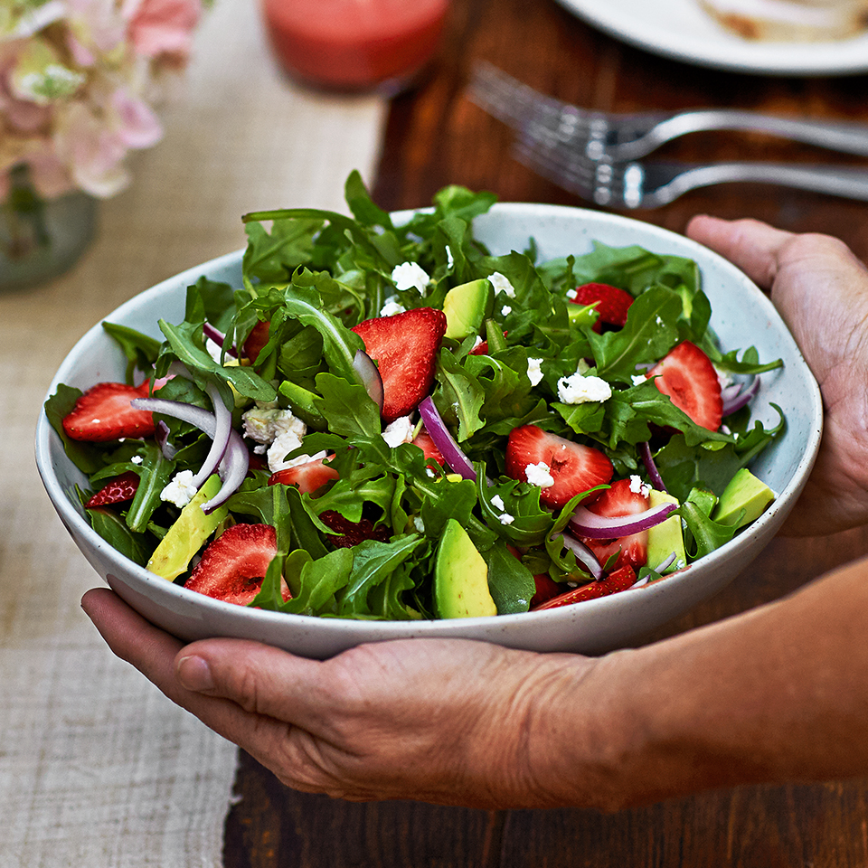 Strawberry, Avocado & Arugula Salad Diabetic Living Magazine