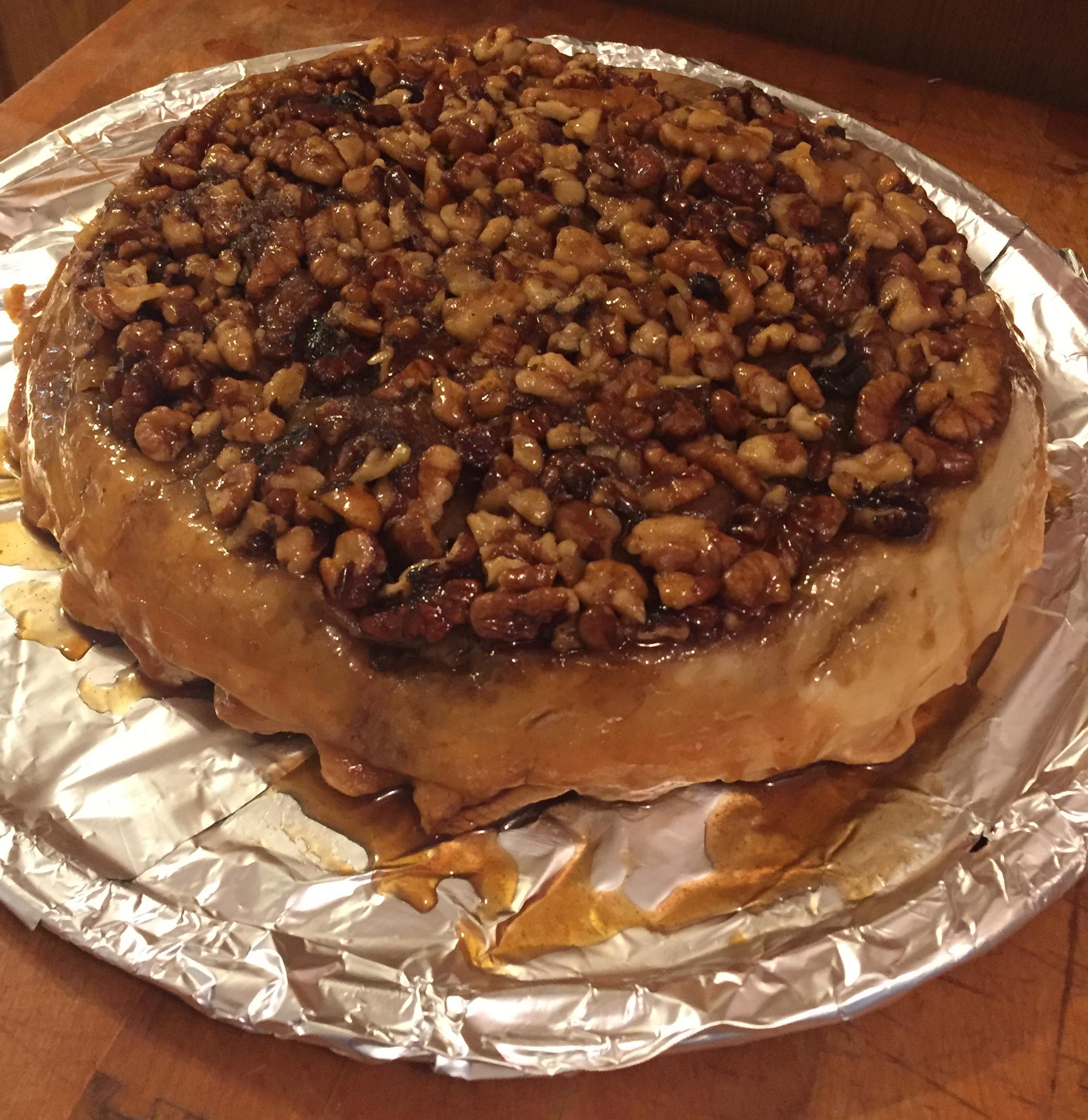 Upside Down Caramel Apple Pie