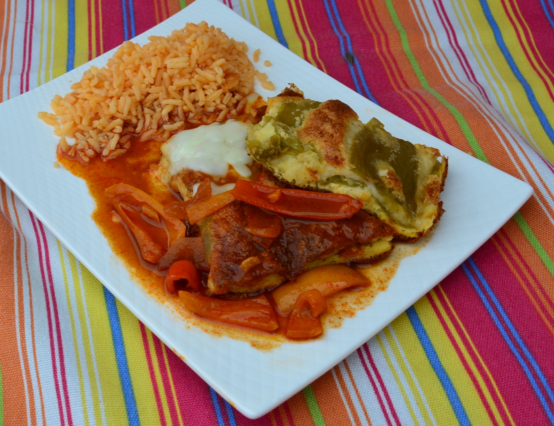 Hatch Chile Relleno Casserole with Ranchero Sauce