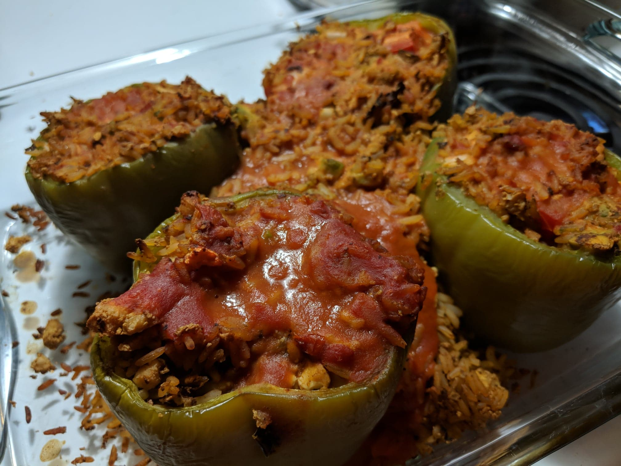 Vegan Tofu-Stuffed Peppers