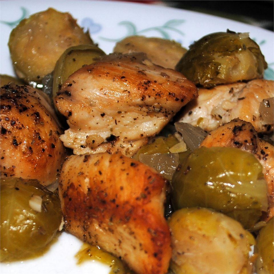 Baked Chicken & Brussels Sprouts Pam Ziegler Lutz