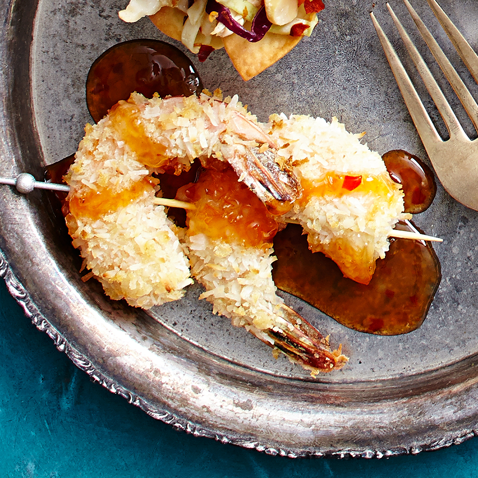 Baked Coconut Shrimp with Sweet Chile Dipping Sauce Diabetic Living Magazine