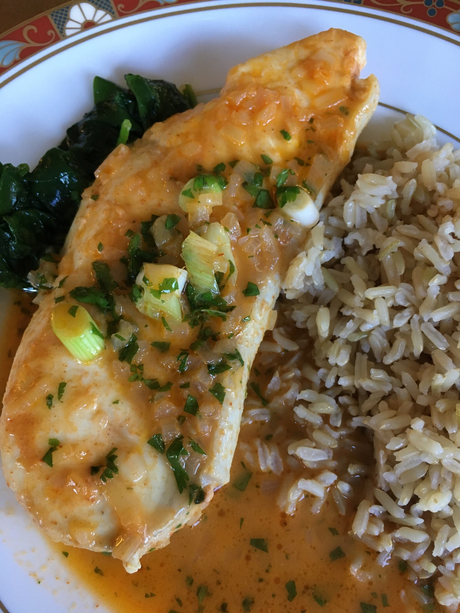 Fish Filet in Thai Coconut Curry Sauce