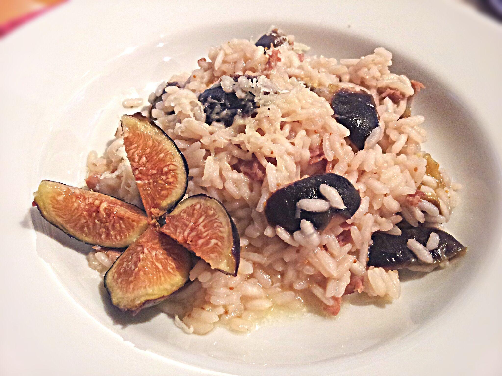 Risotto with Fresh Figs and Prosciutto