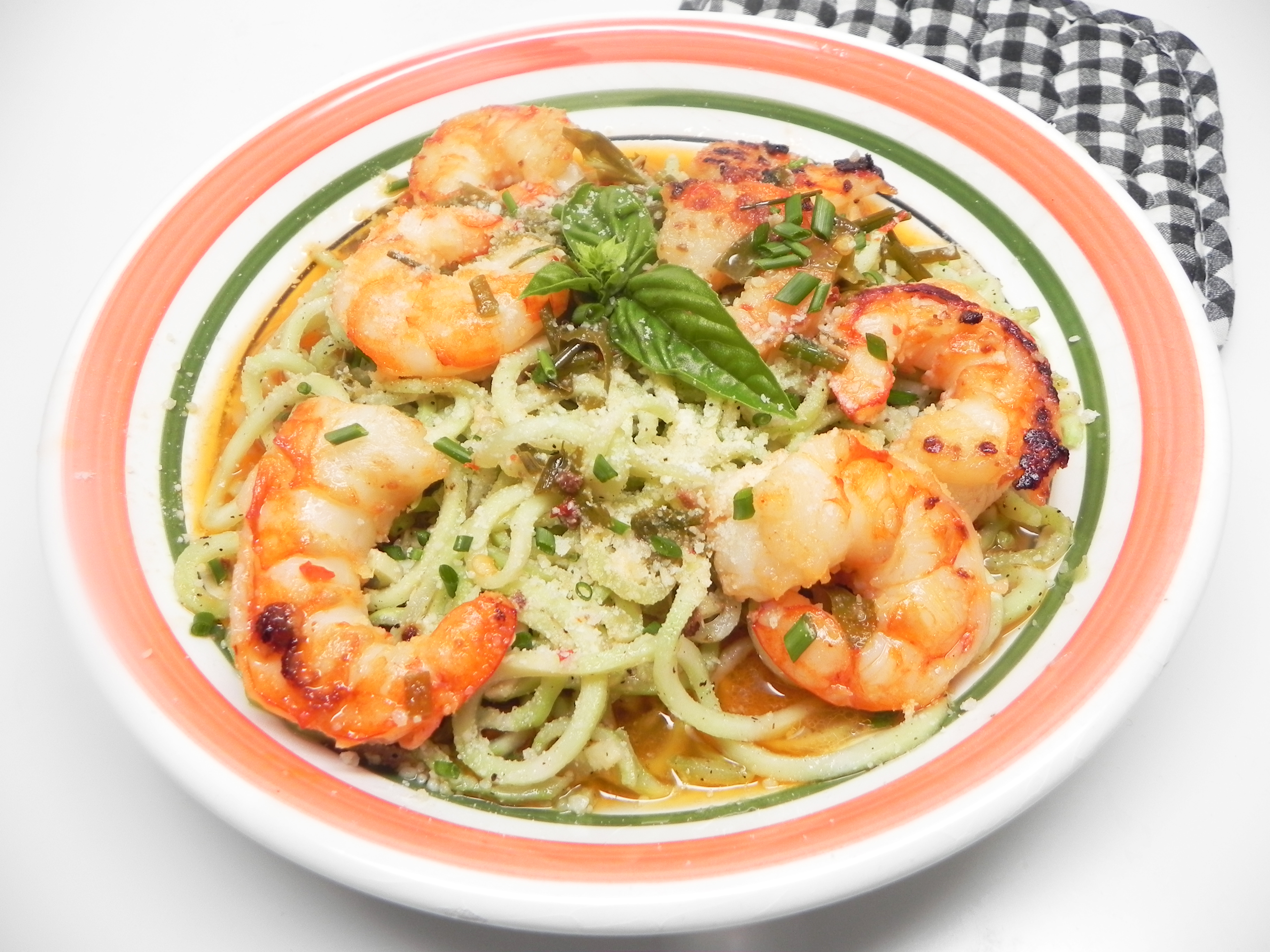 Keto Shrimp Scampi with Broccoli Noodles
