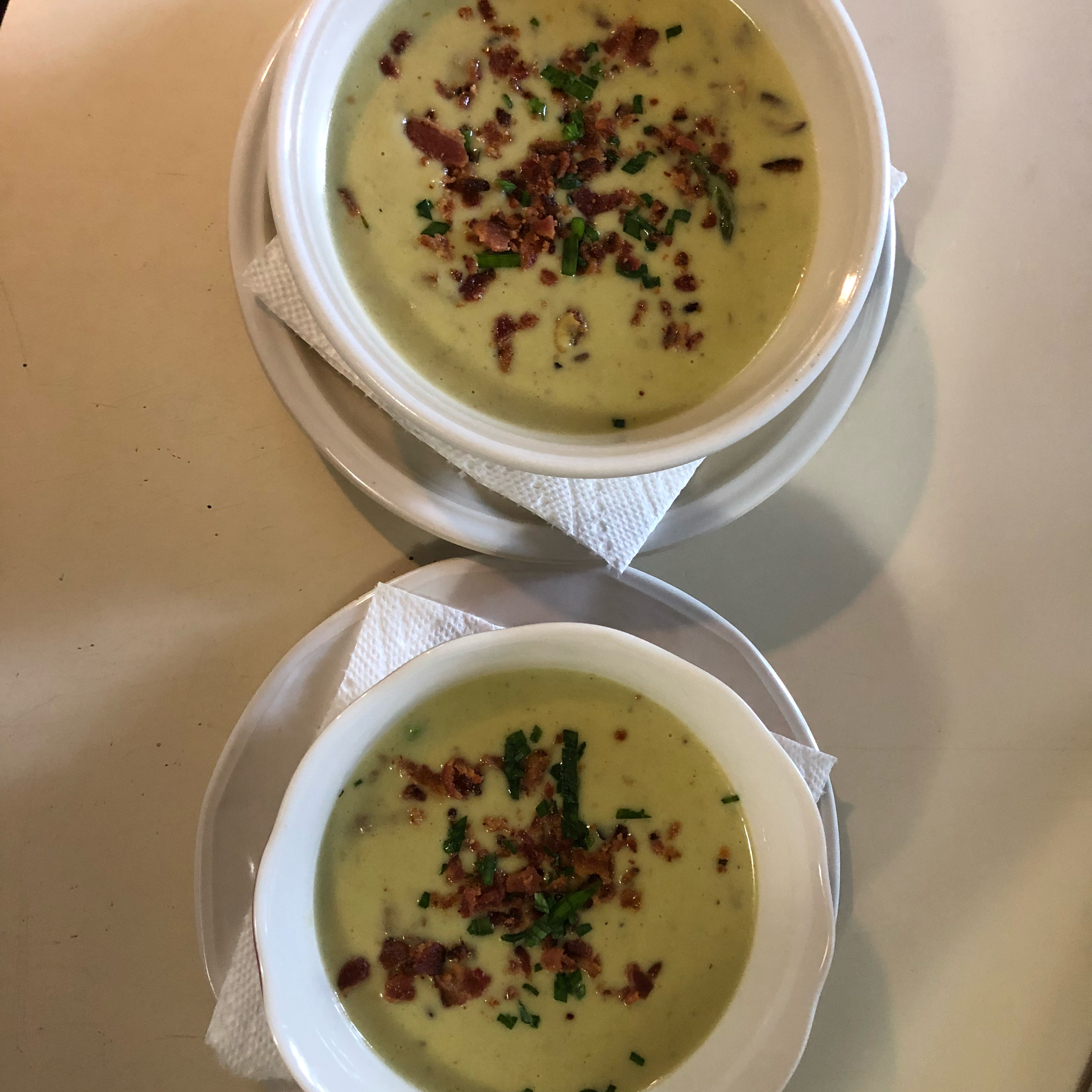 Cream of Asparagus and Mushroom Soup