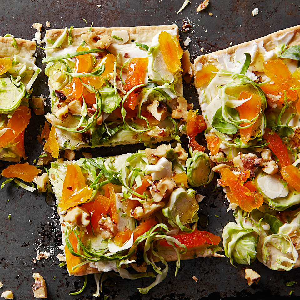 Brussels Sprouts and Goat Cheese Flatbread Diabetic Living Magazine