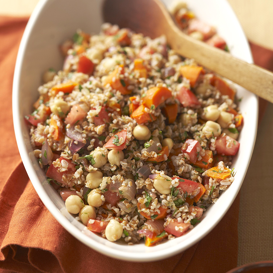 Roasted Vegetable Tabbouleh Diabetic Living Magazine