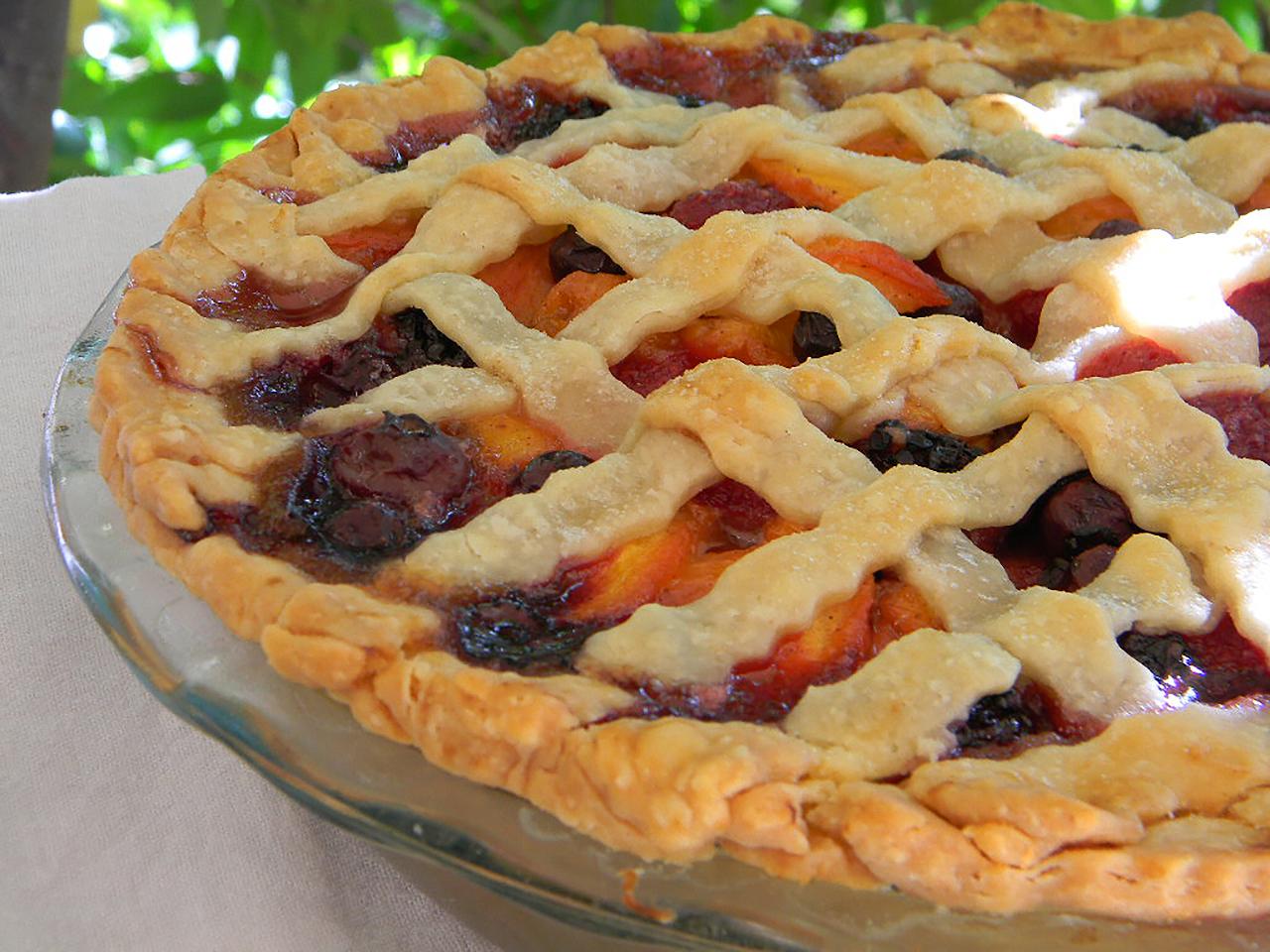 Summer Is Here Triple Berry Peach Pie Recipe Allrecipes Com