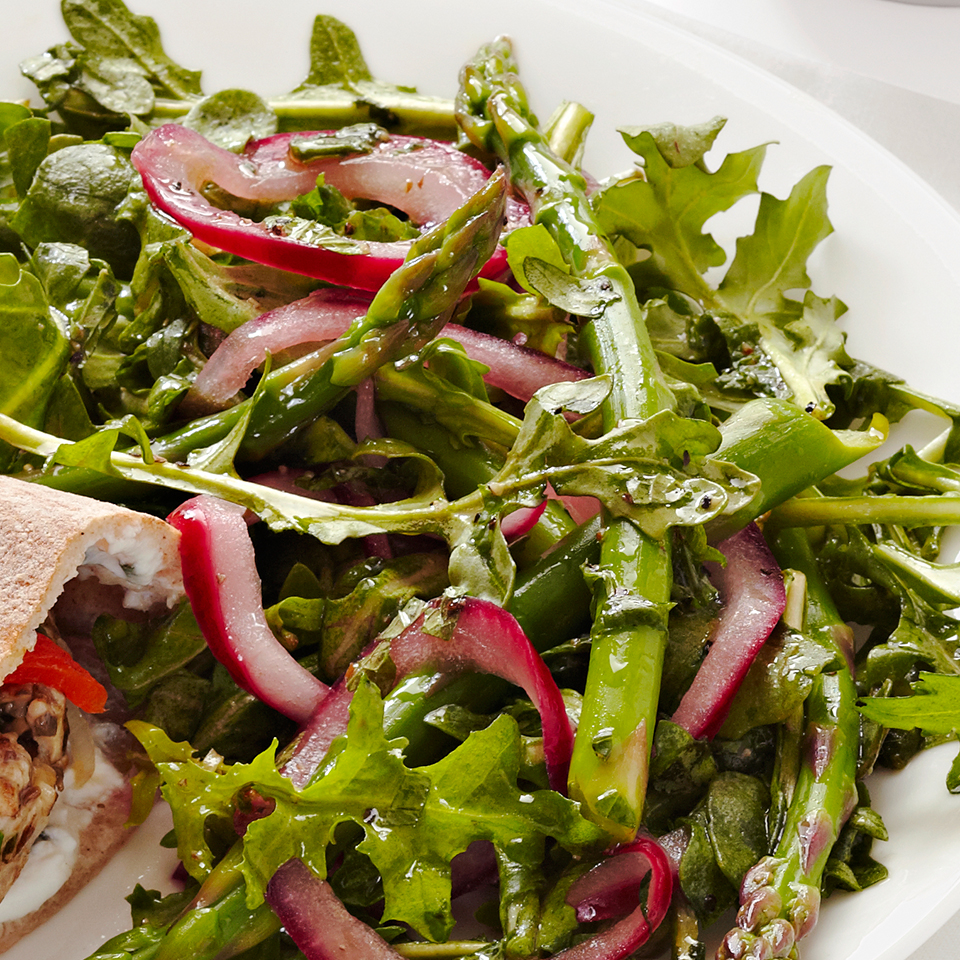 Arugula-Asparagus Salad Diabetic Living Magazine