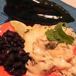 Poblano Chicken Enchilada Casserole