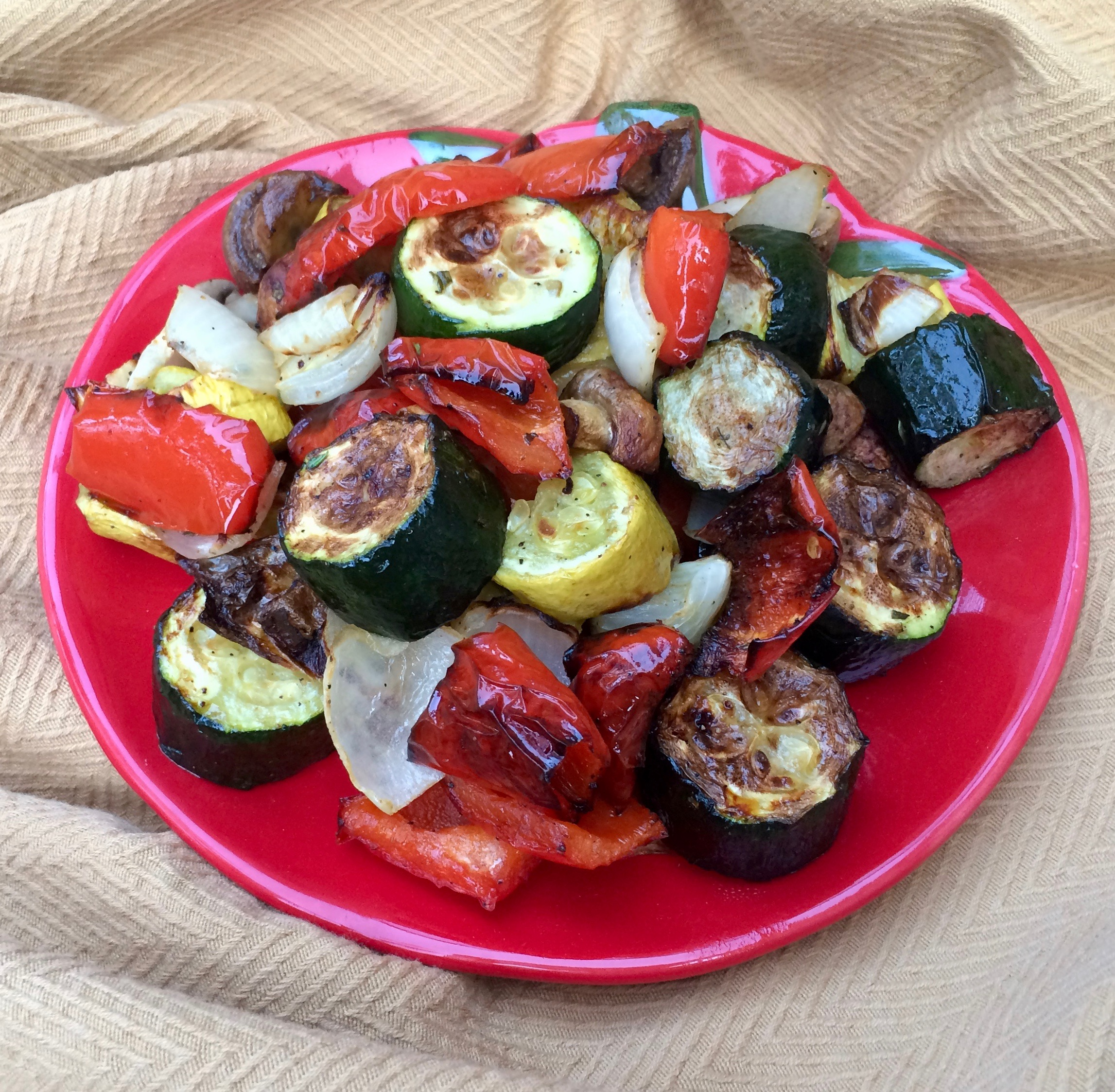 Roasted Rainbow Vegetables in the Air Fryer