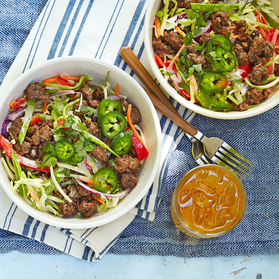 Asian Beef and Cabbage Salad Diabetic Living Magazine