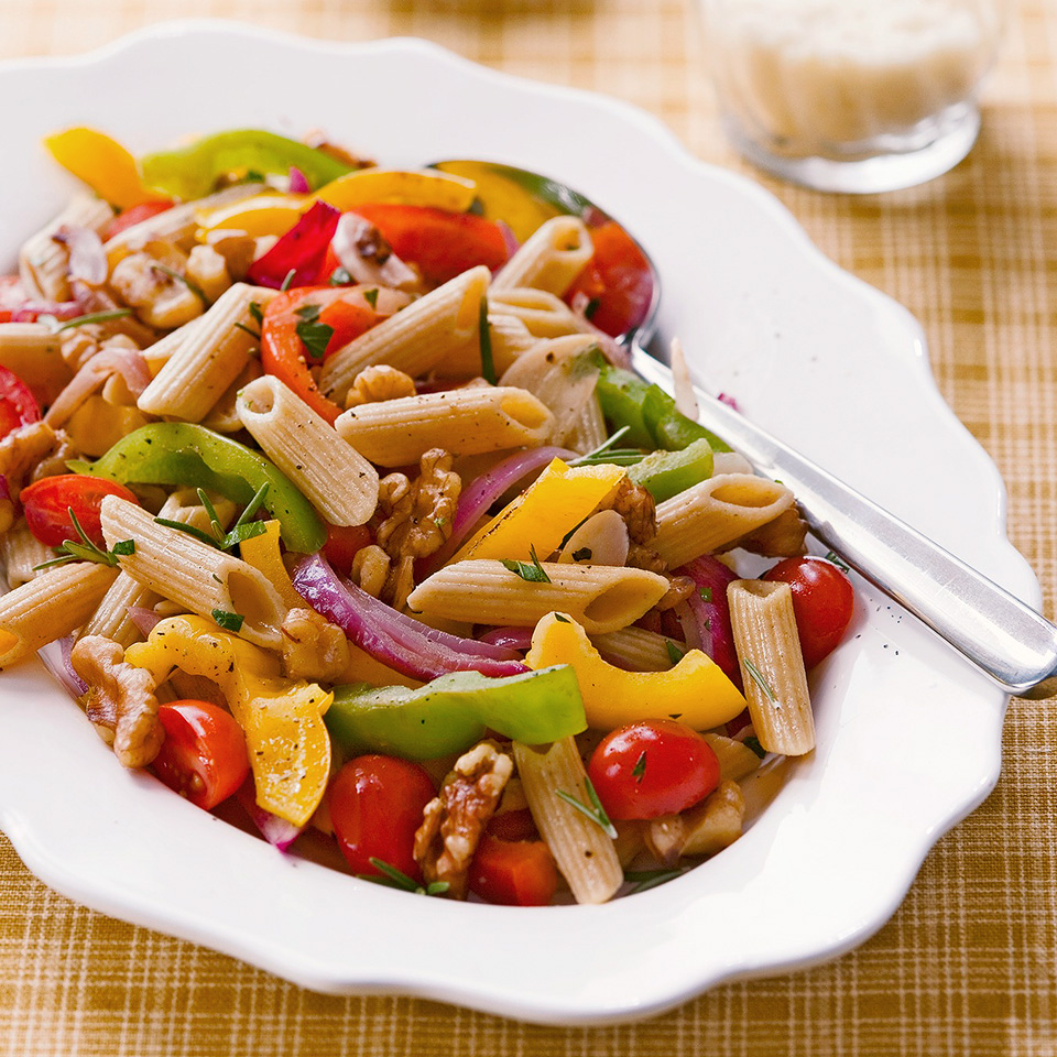 Penne with Walnuts and Peppers Diabetic Living Magazine
