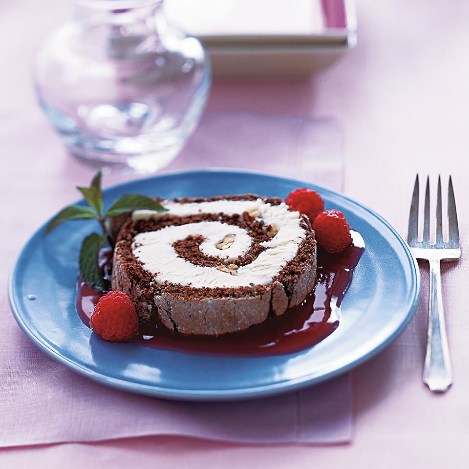 Chocolate Ice Cream Roll Diabetic Living Magazine