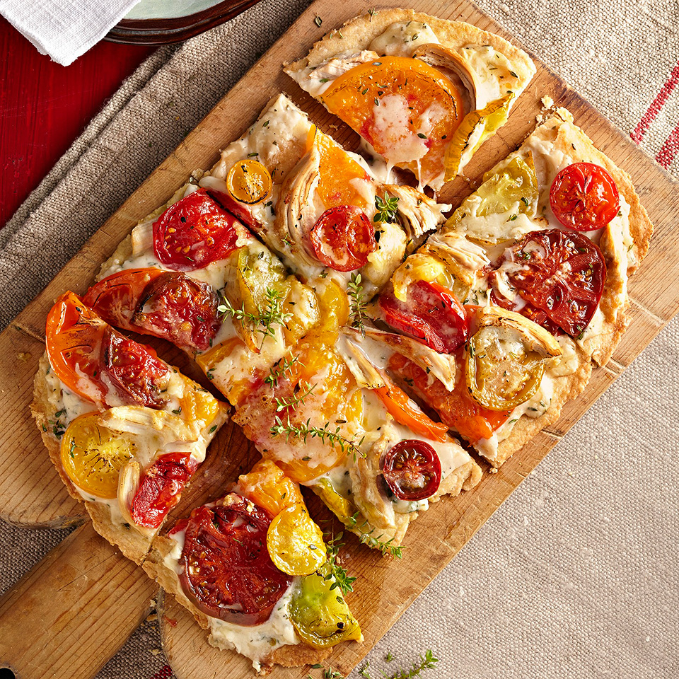 This Country-Style Tomato Tart is made with a homemade a crunchy, buttery cornmeal pastry.