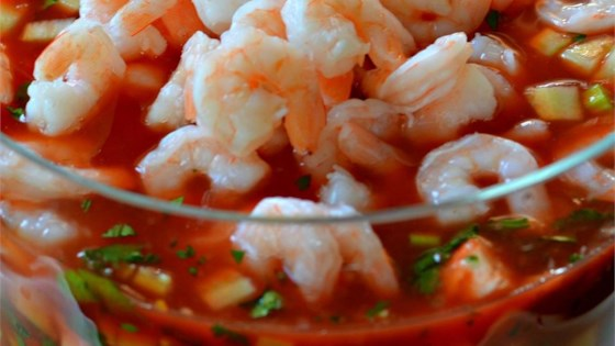 Photo of Original Mexican Shrimp Cocktail by JeffnJamie