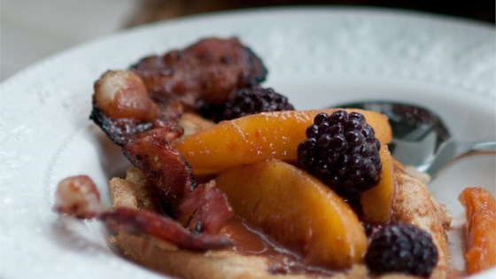 Photo of Spiced Blackberry and Peach Compote by Angela Sackett | Superhotmama