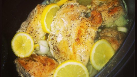 Photo of Slow Cooker Lemon and Thyme Chicken by Louiselombard