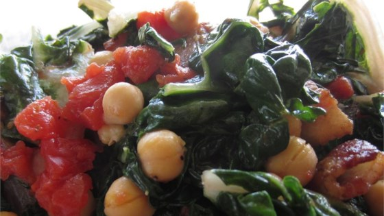 Photo of Swiss Chard with Garbanzo Beans and Fresh Tomatoes by Syd