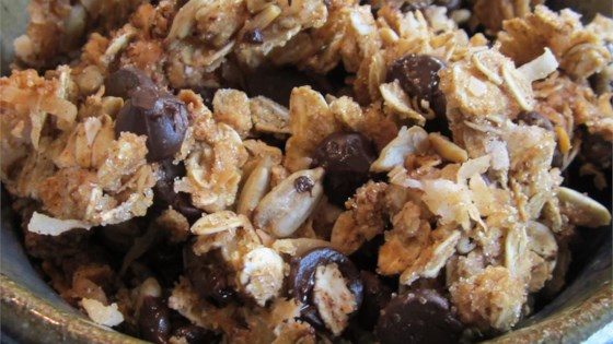 Photo of Crunchy Peanut Butter, Chocolate, Coconut Granola by kellie1000