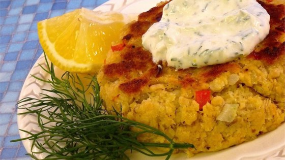Photo of Salmon Patties With Dill Sauce by tinalyn