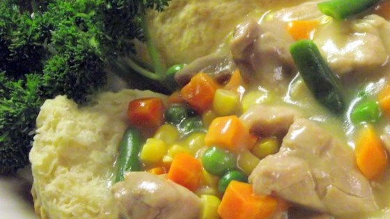 Photo of Slow Cooker Chicken Pot Pie Stew by GourmetSoy