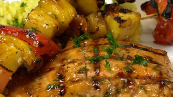Photo of BBQ Salmon and Fruit Skewers by TaraR