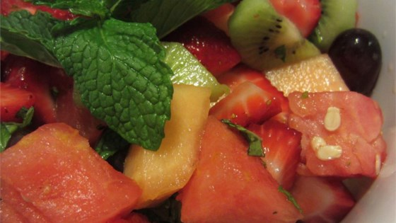 Photo of Summer Fruit Salad with a Lemon, Honey, and Mint Dressing by TimTanguay