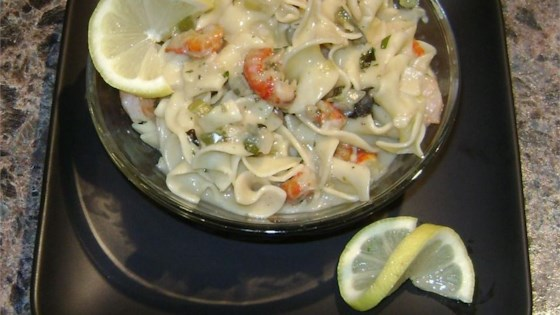 Photo of Zesty Seafood Pasta by Charlotte Wood Stanosek