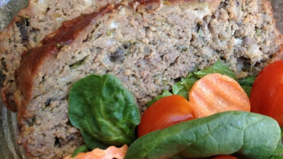 Photo of Heavenly Meatloaf with Blue Cheese, Mushrooms, and Spinach by Rachel