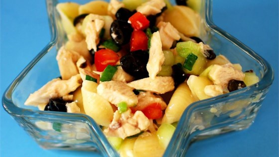 Photo of Chicken and Vegetable Pasta Salad by BETHANYGRONBERG