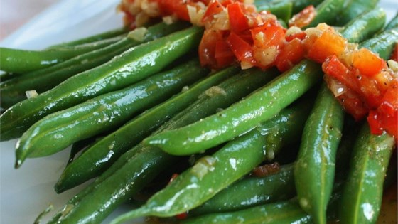 Photo of Garlicky, Spicy and Sesamey Green Beans by JULIEP