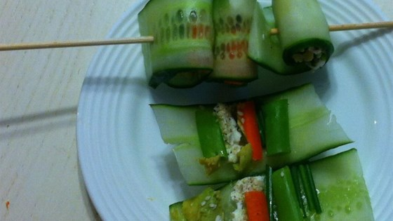 Photo of Mini Cucumber Sushi Rolls by kelcampbell