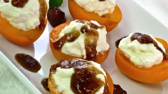 Photo of Apricots with Mascarpone Cream by Michelle Berger